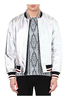 MARC BY MARC JACOBS Metallic leather bomber jacket