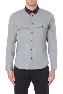 MARC BY MARC JACOBS Angus checked-collar cotton shirt