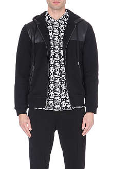 MARC BY MARC JACOBS Leather-panelled jersey hoody