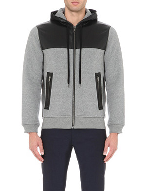 MARC BY MARC JACOBS Luke leather-trim hoody