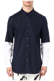 3.1 PHILLIP LIM Double-layered sleeve shirt