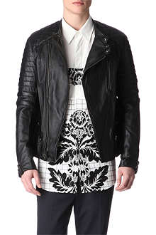 3.1 PHILLIP LIM Padded leather motorcycle jacket