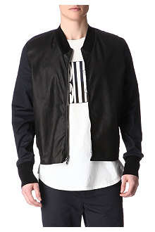 3.1 PHILLIP LIM Leather-panelled bomber jacket