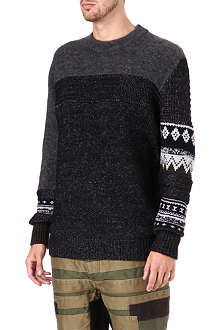 3.1 PHILLIP LIM Patchwork mohair sweater