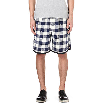 3.1 PHILLIP LIM Checked shorts (Ivory/navy
