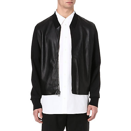 3.1 PHILLIP LIM Leather bomber jacket (Black