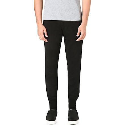 Y3 Cuffed jogging bottoms (Black