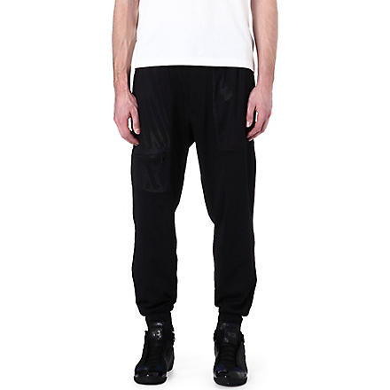 Y3 Mesh pocket jogging bottoms (Black
