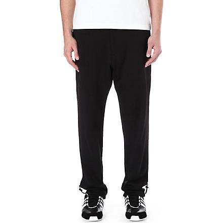 Y3 Digital-text jogging bottoms (Black
