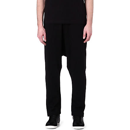 Y3 Lightweight slouchy jogging bottoms (Black