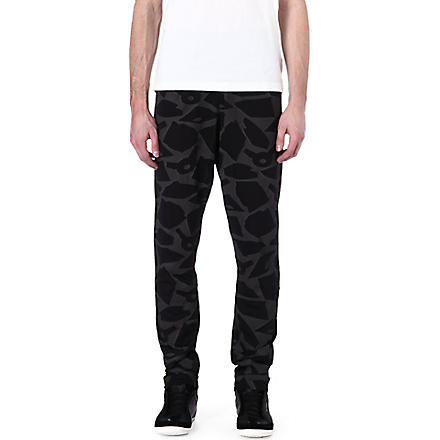 Y3 Reflective print trousers (Black