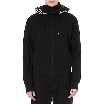 Y3 Digital-text hoody (Black