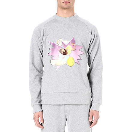 Y3 Teddy cotton sweatshirt (Grey