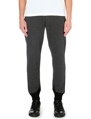 Y3 Colour-blocked jersey jogging bottoms