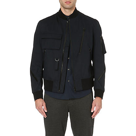 Y3 Zip bomber jacket (Navy/black