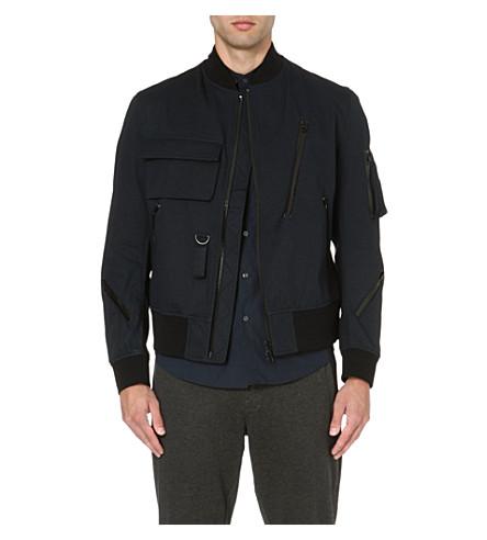 Y3 Zip bomber jacket (Navy/black