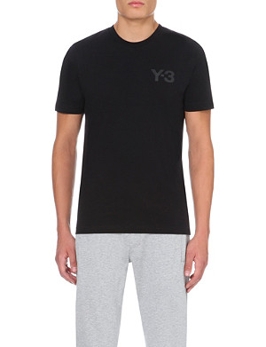 Y3 Logo cotton-jersey t-shirt