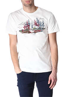 BILLIONAIRE BOYS CLUB Fishing scene t-shirt
