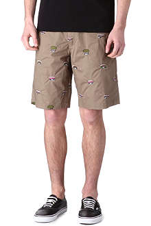 BILLIONAIRE BOYS CLUB Embroidered army cap shorts