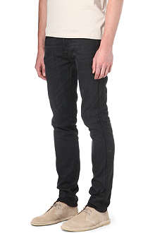 ACNE Ace Coal skinny straight mid-rise jeans