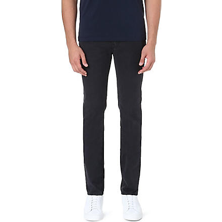 ACNE Slim-fit mid-rise jeans (Black