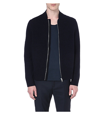ACNE Chet zip-up wool cardigan (Navy