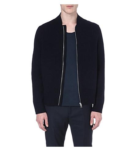 ACNE Chet zip-up wool cardigan (Navy