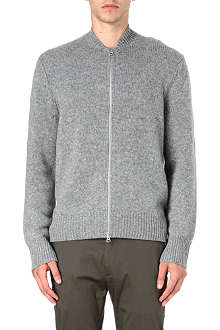 ACNE Chet zip knitted cardigan