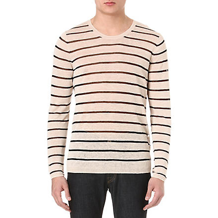 ACNE Colt striped jumper (White