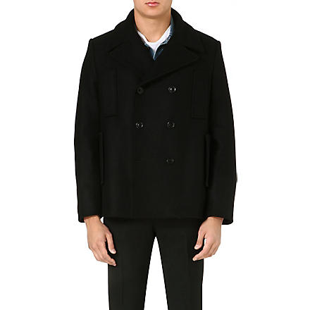 ACNE Wool peacoat (Black