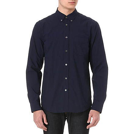 ACNE Isherwood cotton-poplin shirt (Navy
