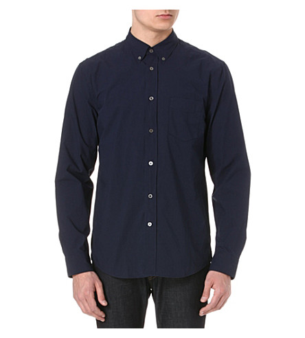 ACNE STUDIOS Isherwood cotton-poplin shirt (Navy