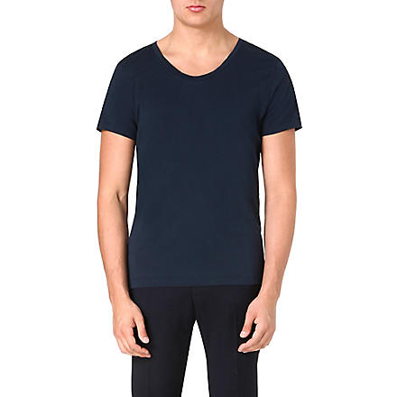ACNE Short-sleeved jersey t-shirt (Navy