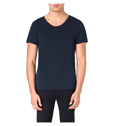 ACNE Short-sleeved jersey t-shirt (Navy