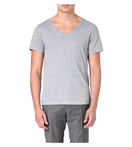 ACNE Short-sleeved jersey t-shirt (Grey