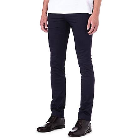 ACNE Max Satin slim-fit chinos (Navy
