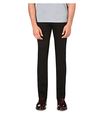 ACNE Satin chino trousers (Black