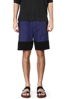 ACNE Michigan nylon panel sweat shorts