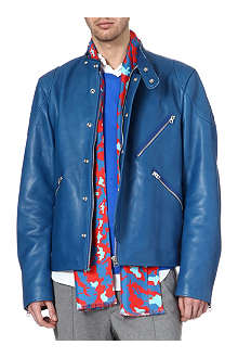 ACNE Neil taped leather biker jacket
