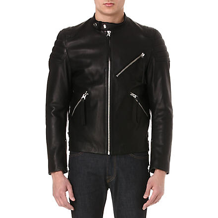 ACNE Oliver leather biker jacket (Black