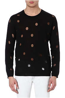 ACNE Pierce see-through polka dot jumper