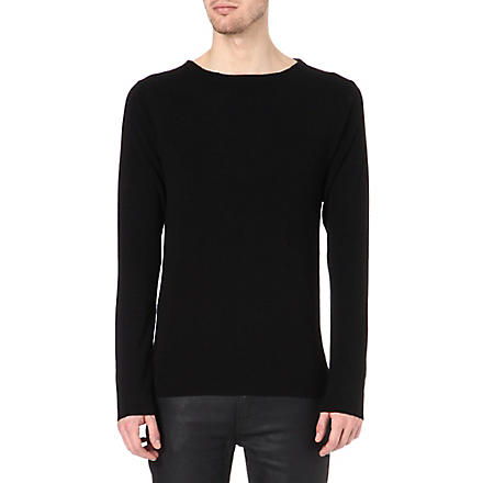 ACNE River boat-neck jumper (Black