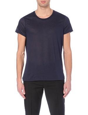 ACNE STUDIOS Semi-sheer cotton-jersey t-shirt