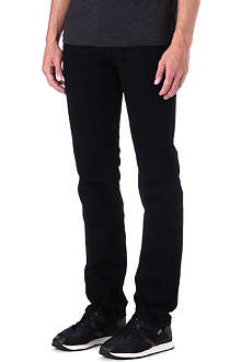 RAG & BONE RB15X Black Resin slim-fit straight jeans