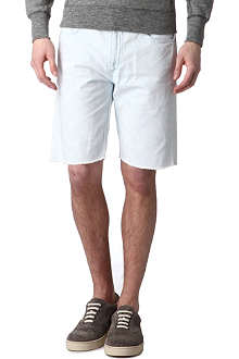 RAG & BONE Cut-off bleached-denim shorts