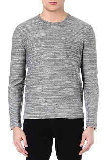 RAG & BONE Cole pocketed cotton-linen sweatshirt