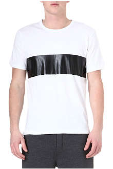 RAG & BONE Printed stripe cotton t-shirt