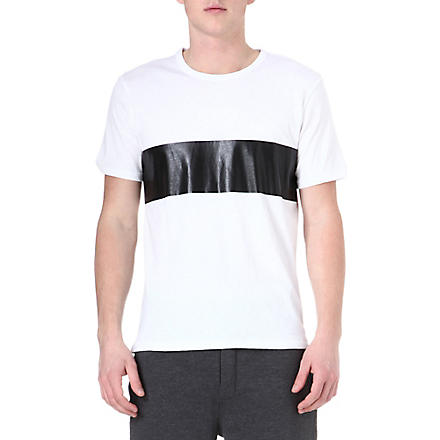 RAG & BONE Printed stripe cotton t-shirt (White