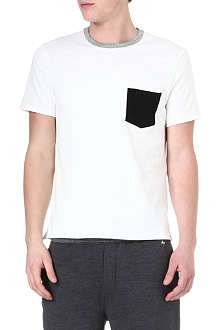 RAG & BONE Colour-block pocket t-shirt