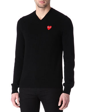 COMME DES GARCONS PLAY Heart knitted jumper